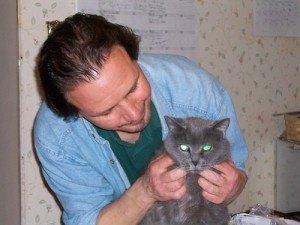 Gato con vet