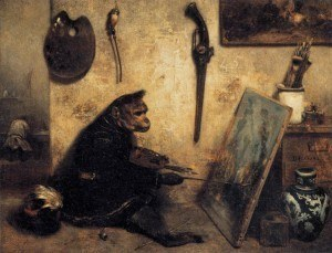 Congo, the artist chimpancee